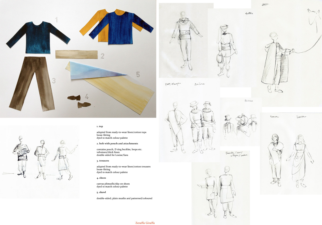 Zeraffa_costume sketches